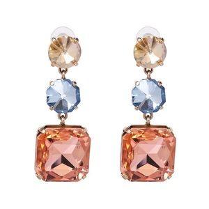 🔆3/$30 New Zara Pastel Crystal Drop Earrings